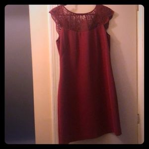 White House Black Market Dark Red Lace Shift